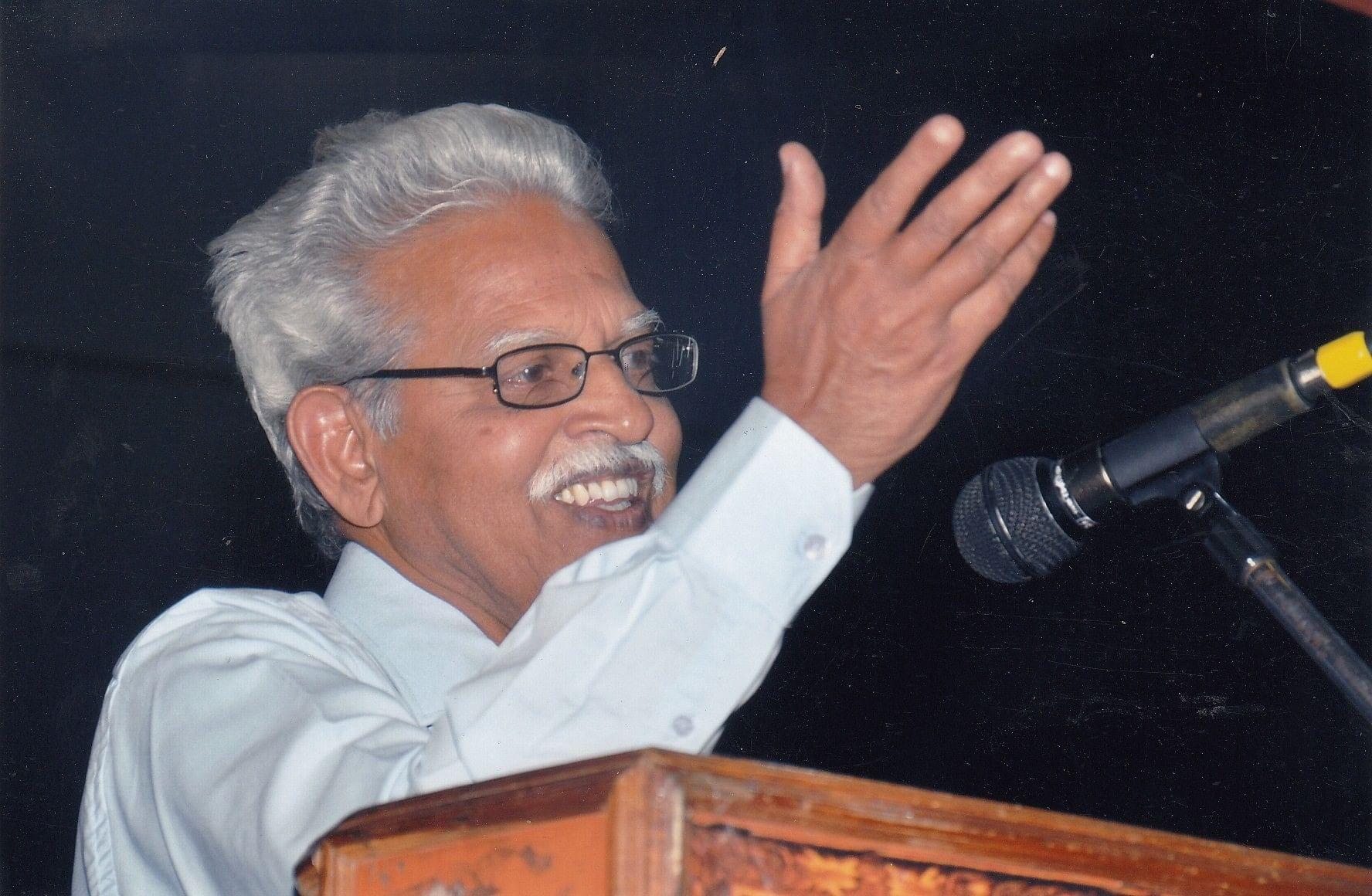 File photo of Varavara Rao at a public event. (Photograph courtesy: N Venugopal)