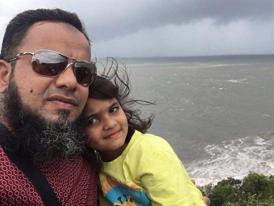 Khalid Saifi with his daughter Mariam. (Photograph courtesy: Nargis Saifi)