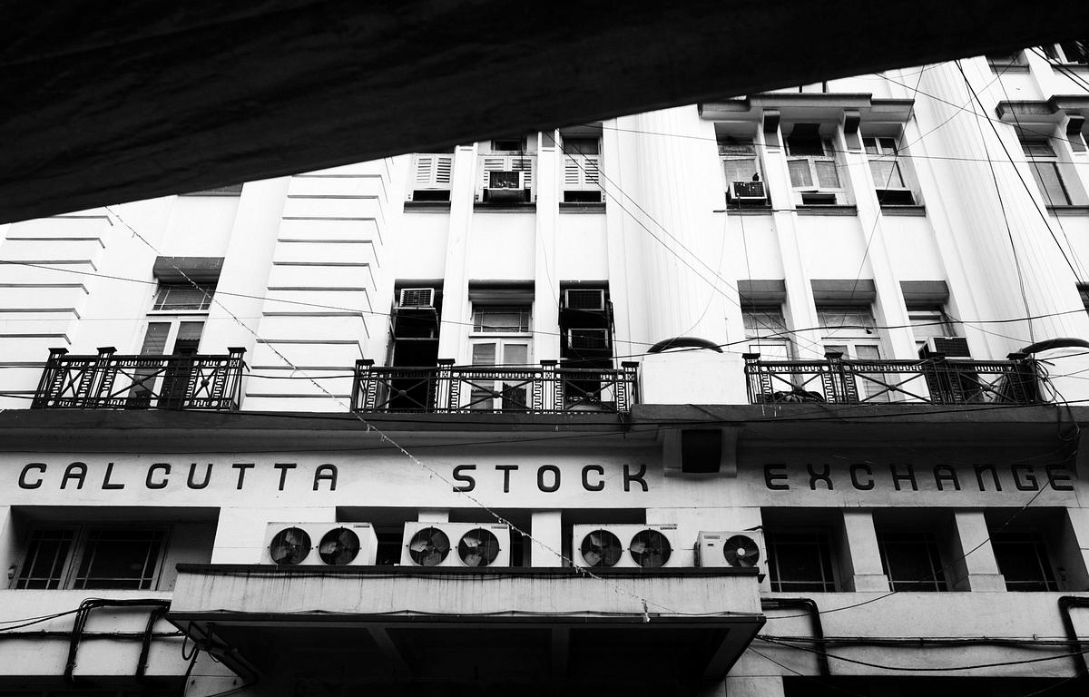 The Calcutta Stock Exchange building. (Photographer: Brent Lewin/Bloomberg)