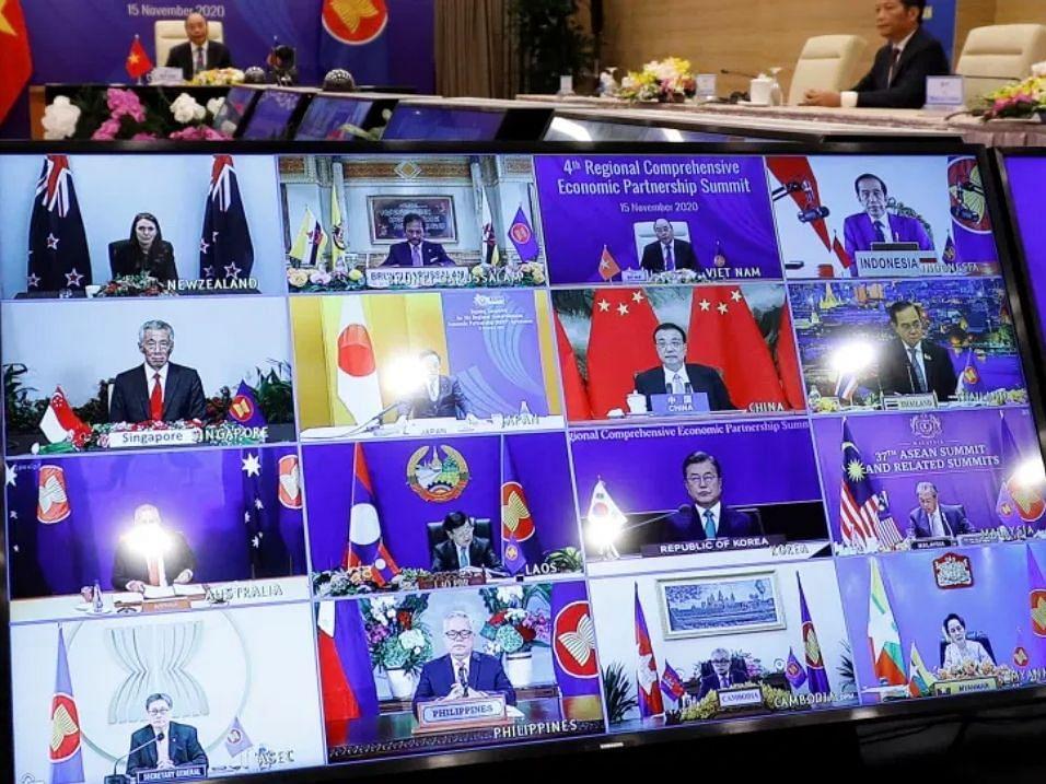 The RCEP signing ceremony, on Nov. 15, 2020. (Photograph: RCEP Secretariat)