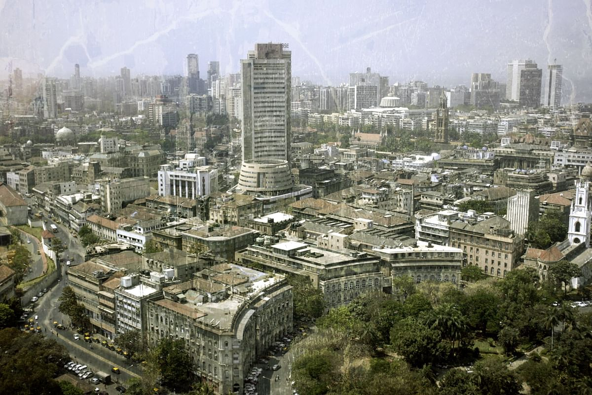 The BSE building and the Mumbai skyline in the early 2000s. (Photographer:Scott Eells/Bloomberg News)