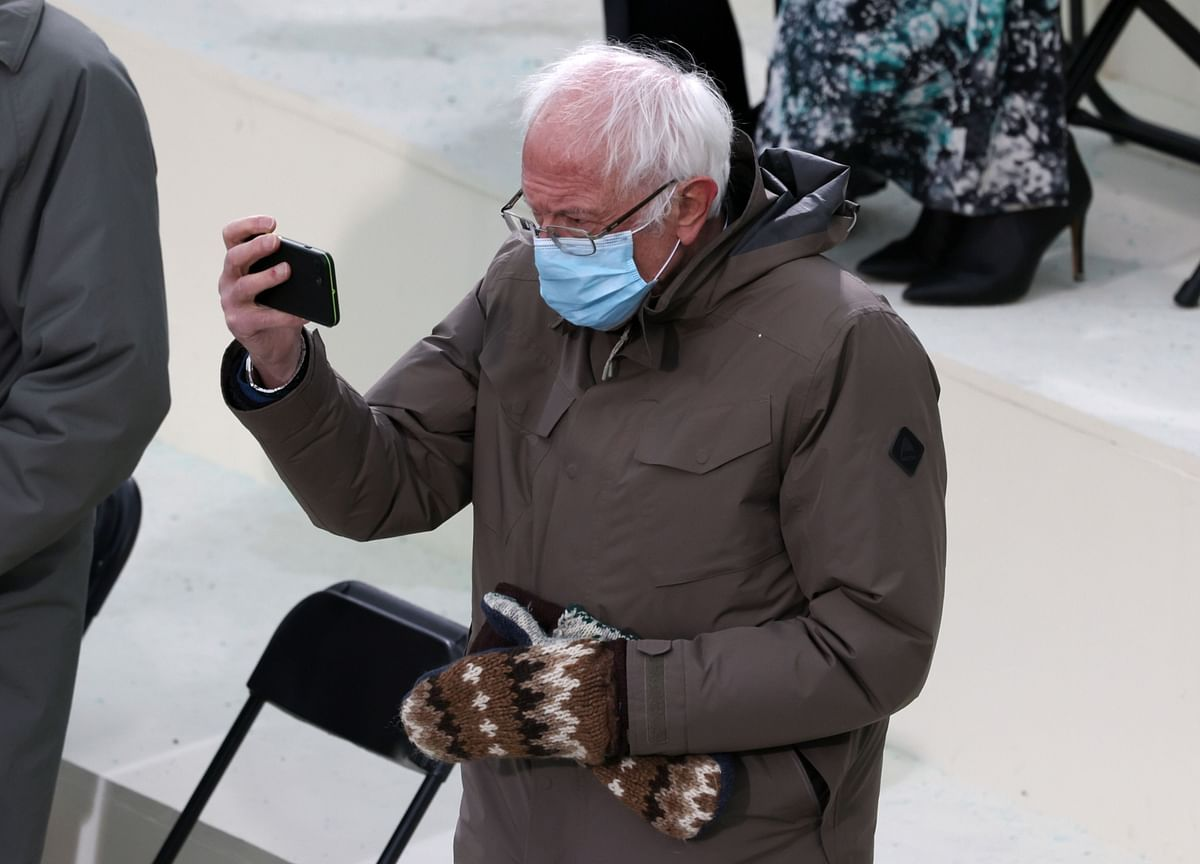 Bernie Sanders's Meme-Worthy Inauguration Coat Is Selling Out