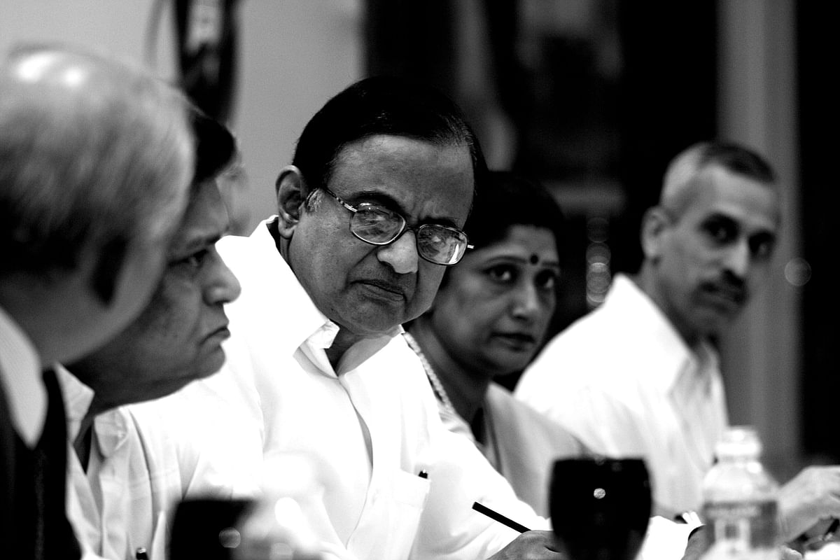 P Chidambaram at a conference in New Delhi, on June 22, 2007. (Photographer: Lakshman Anand/Bloomberg News)