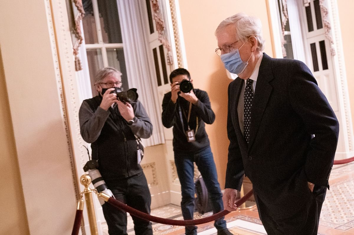 McConnell's Senate Grip Ends With GOP Splintered, Mob In Chamber