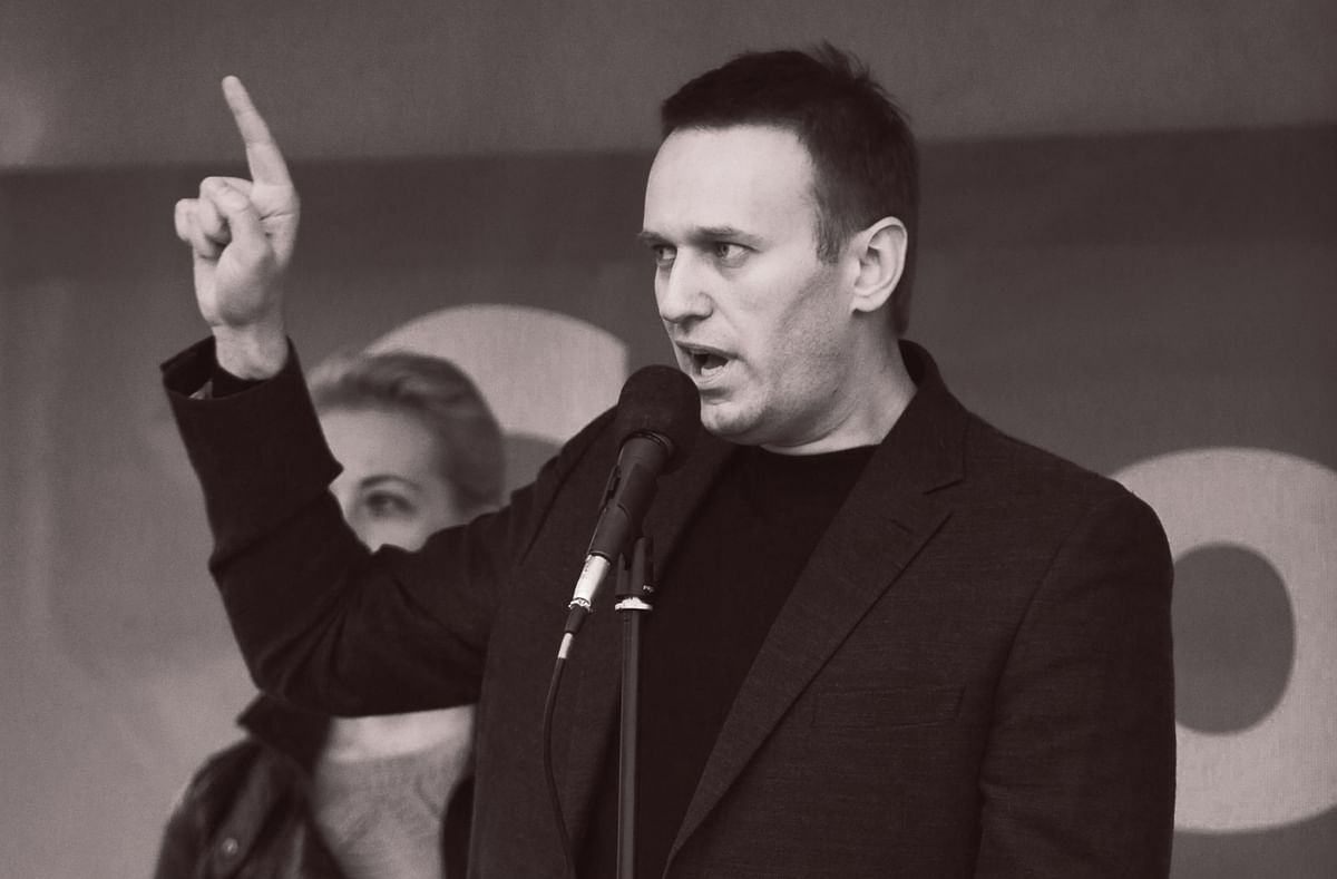 Alexey Navalny at a protest rally in Moscow, on May 6, 2013. (Photographer: Andrey Rudakov/Bloomberg)