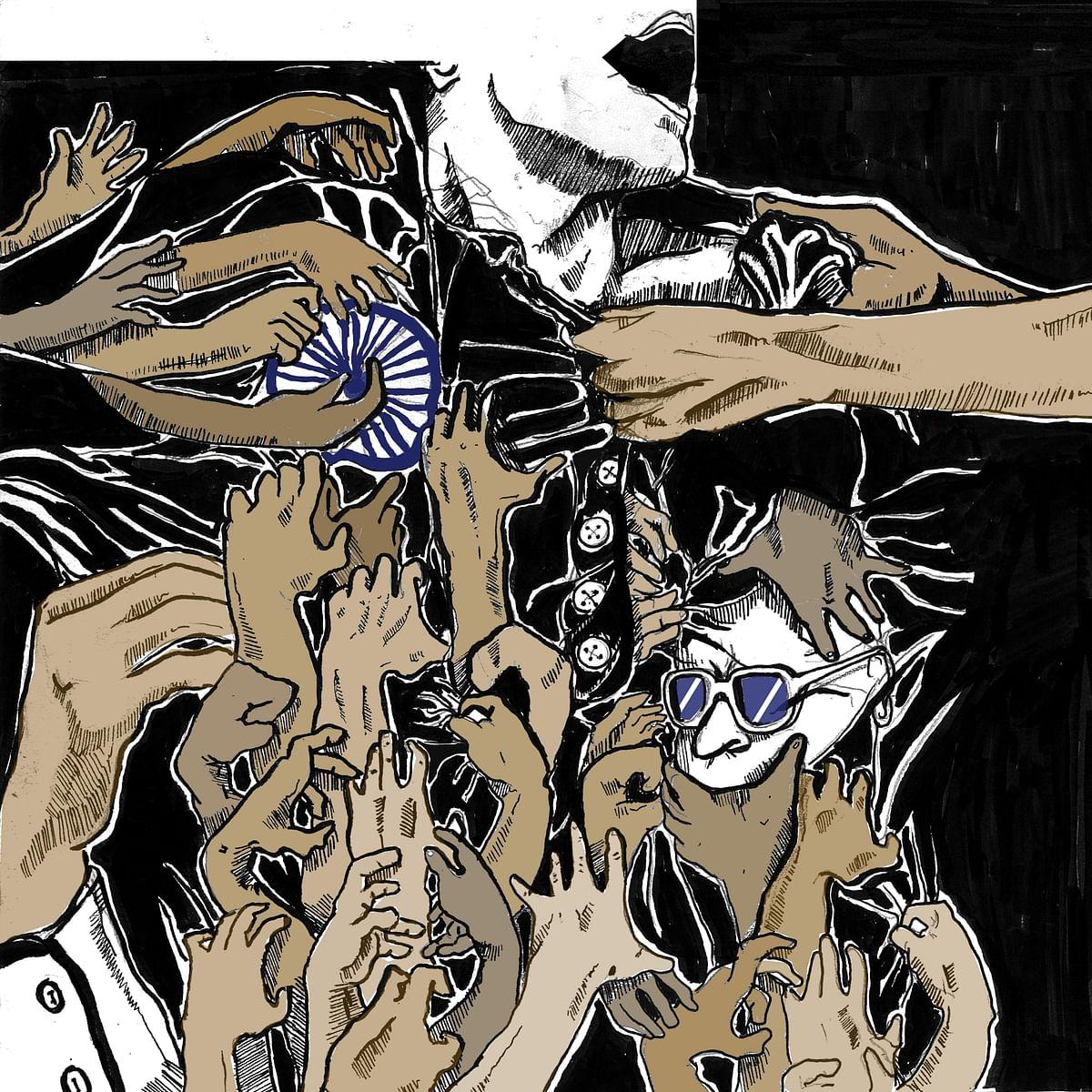 Artwork by Ajinkya Dekhane for 'No Lockdown On Caste Atrocities'. (Courtesy: Esthaappen S.)