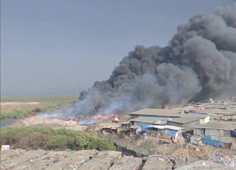 Major Fire At Mumbai Scrapyard, Fire Officer Injured