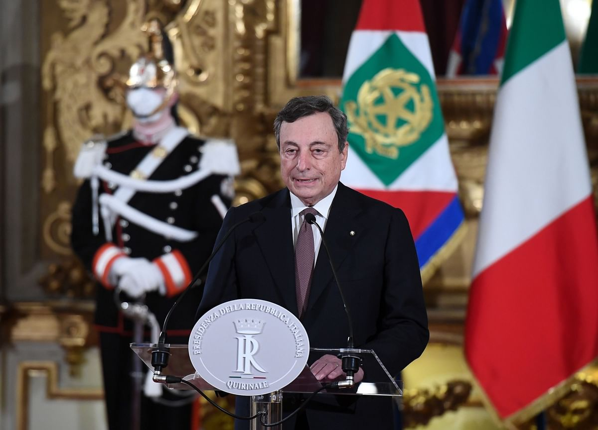 Draghi's Italian Government Mixes Technocrats With Politicians