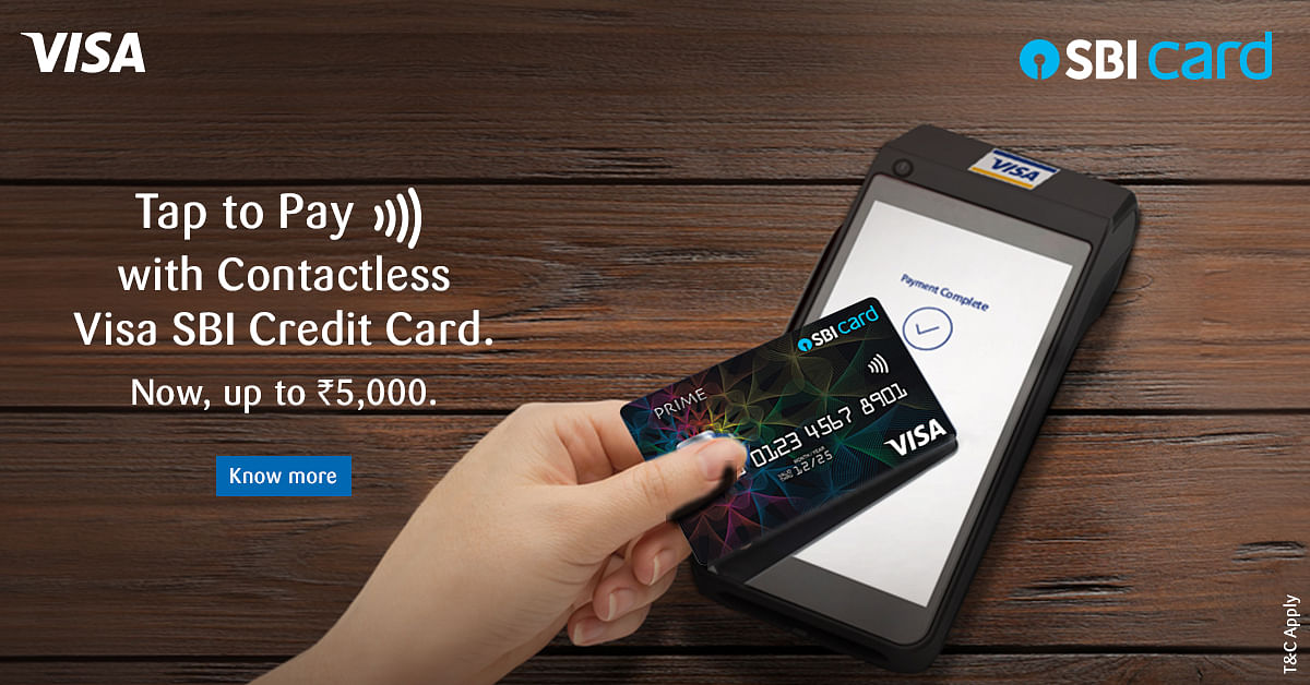 Get Cashless Confidence Plus Cashback With Contactless Visa SBI Credit Card