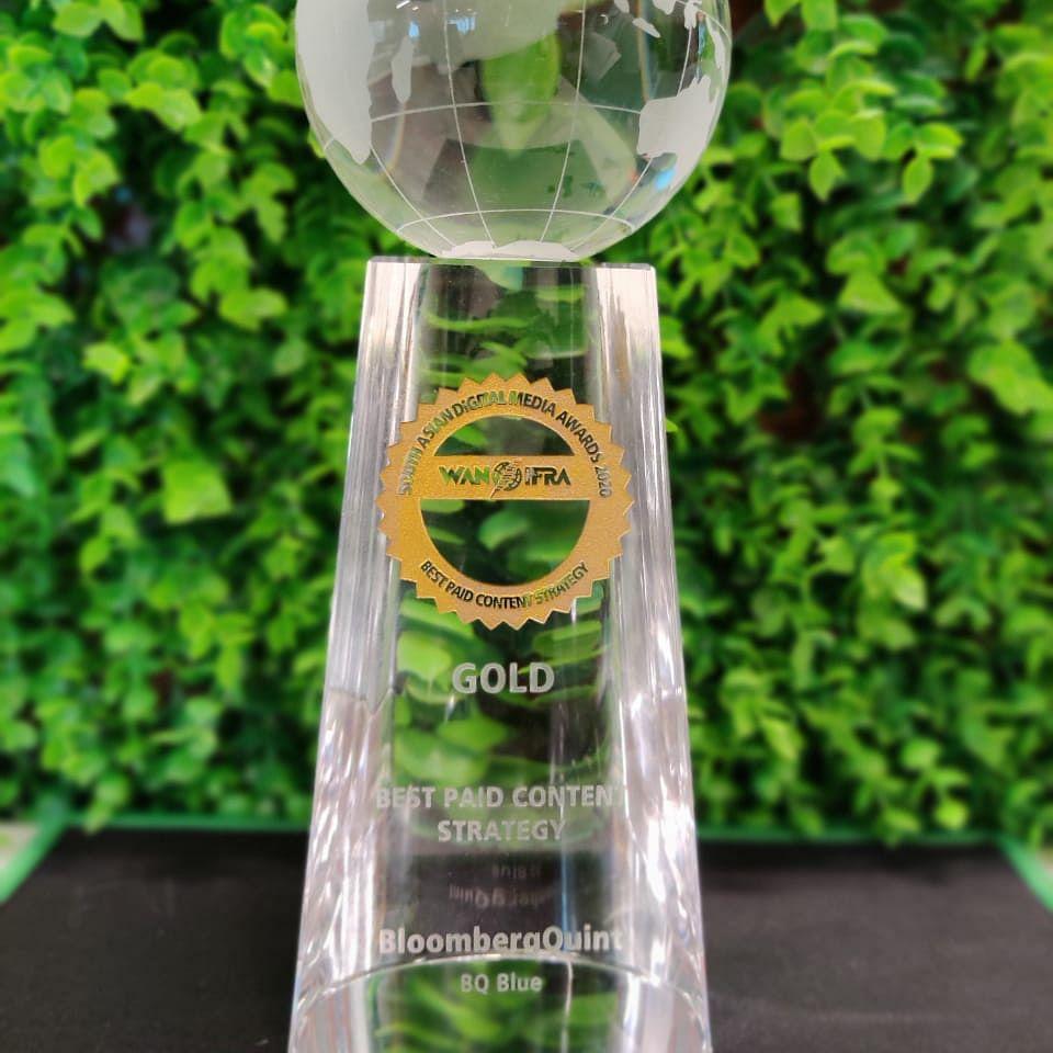 BloombergQuint Wins Gold At WAN-IFRA South Asian Digital Media Awards 2020