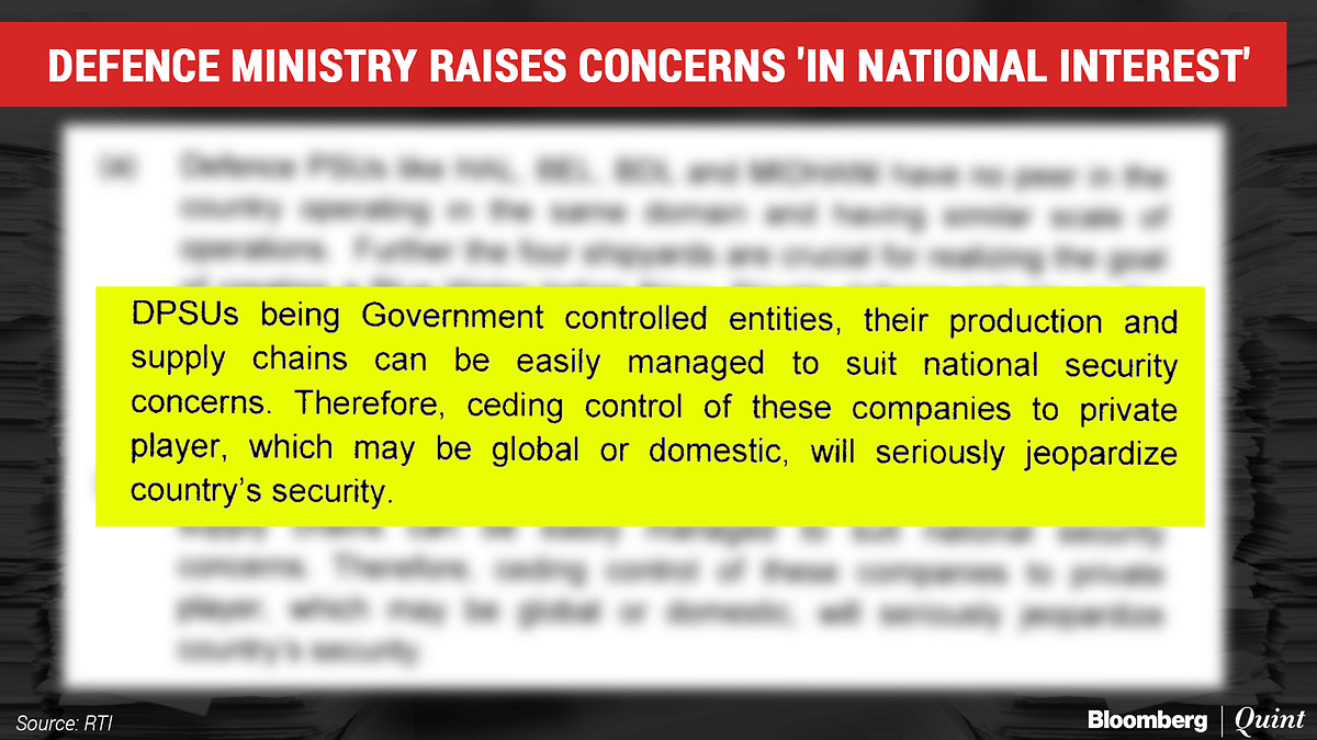 New Privatisation Policy: Are The Defence Ministry's Concerns Justified?