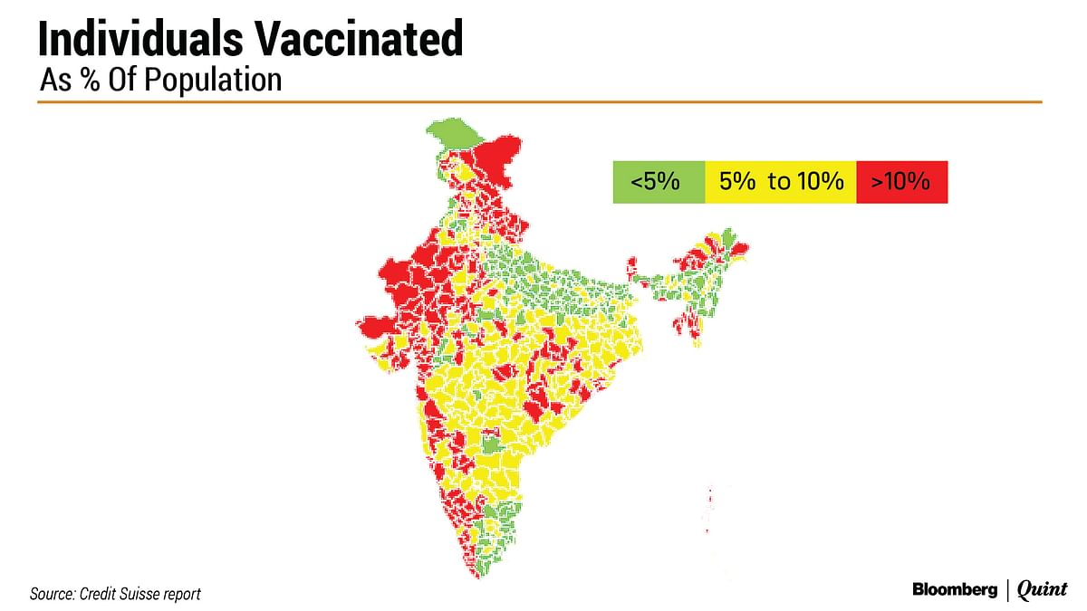 District-Wise Disparity Seen In India's Vaccine Coverage Map