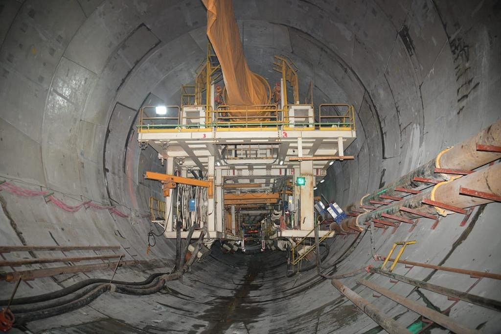 Tunneling  under-way at Mumbai's coastal road project. (Image: BMC)