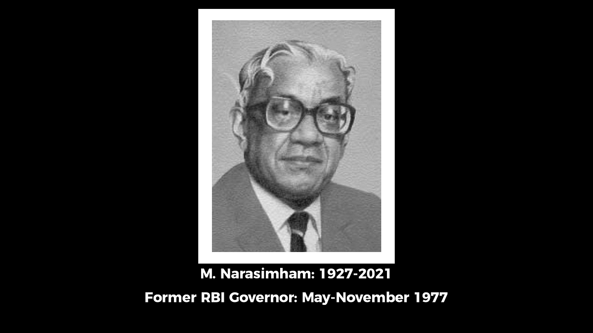 M Narasimham, Who Championed India's Banking Reforms, Dies
