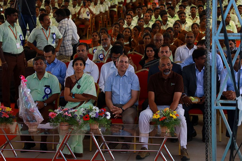 Dvara leadership at the organisation's 10th anniversary celebrations. (Source: Dvara KGFS website)