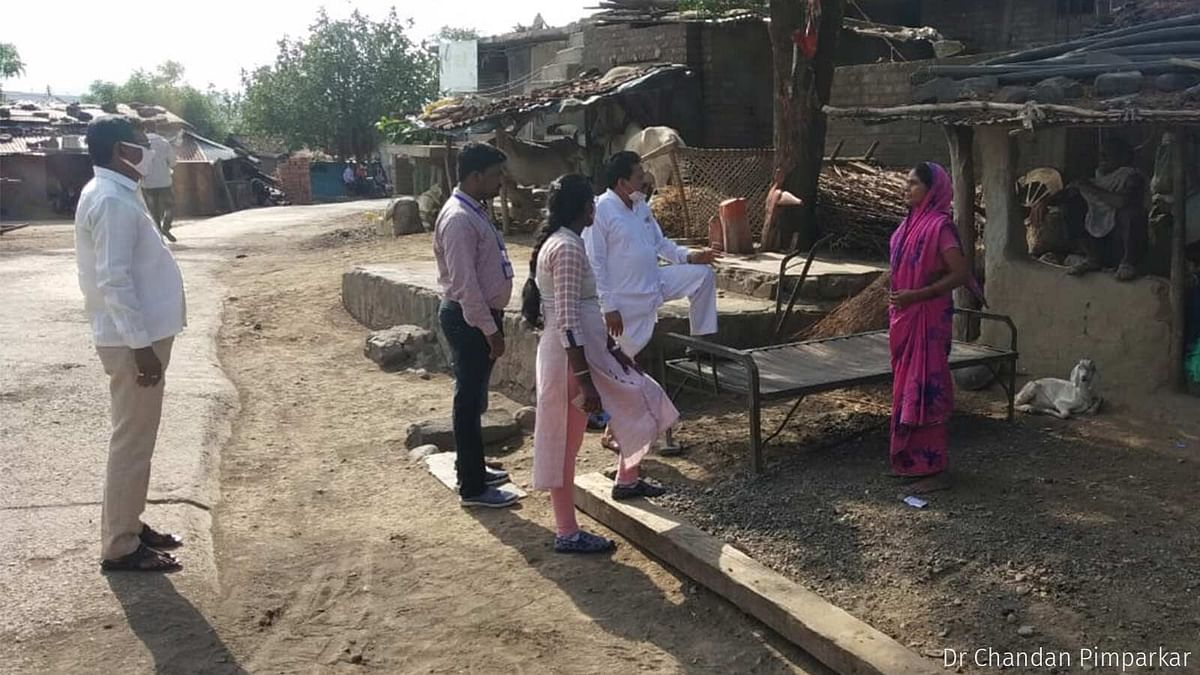 """<div class=""""paragraphs""""><p>Chikhaldara tehsildar Maya Mane visits homes in a village in Melghat to convince residents to take the vaccine.</p></div>"""