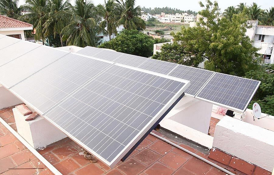 """<div class=""""paragraphs""""><p>Community solar would be more cost-effective than rooftop solar for those who consume less electricity. (Photo: Jency Samuel)</p></div>"""