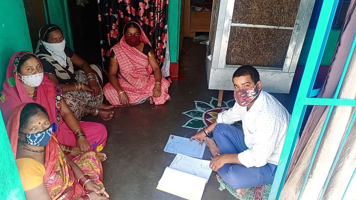 """<div class=""""paragraphs""""><p>File photo of group training  being carried out by a field officer of of Aviral Finance  in  Chhattisgarh.&nbsp; (Source: Aviral Finance Pvt.)&nbsp;</p></div>"""