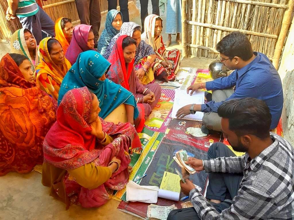 File photo of group training programs being carried out by field officers of Adi Chitragupta Finance. (Source: Adi Chitragupta Finance Pvt.)
