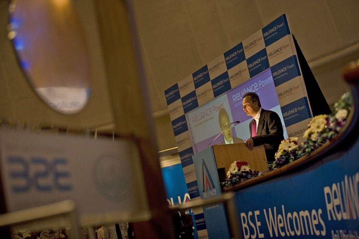 "<div class=""paragraphs""><p>Anil Ambani,&nbsp; speaks during Reliance Power Ltd.'s listing ceremony on Feb. 11, 2008. (Photographer: Prashanth Vishwanathan/Bloomberg News)</p></div>"