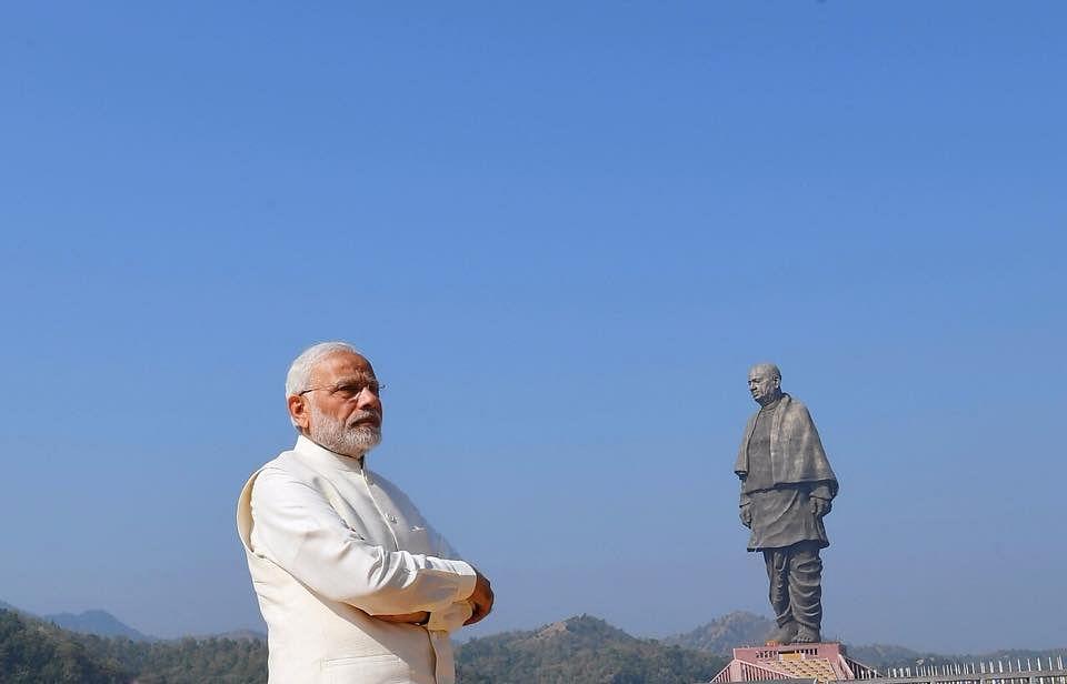 "<div class=""paragraphs""><p>Prime Minister Narendra Modi  at the 'Statue of Unity', in Kevadiya,  Gujarat, on Oct. 30, 2018. (Photograph: Narendra Modi/Facebook)</p></div>"
