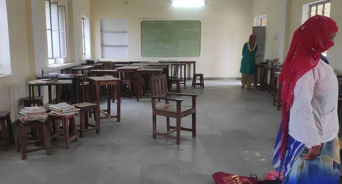 "<div class=""paragraphs""><p>An empty classroom at the government middle school in Harota village, Rajasthan, July 28. (<em>Photo Credit: Shreya Khaitan/IndiaSpend)</em></p></div>"