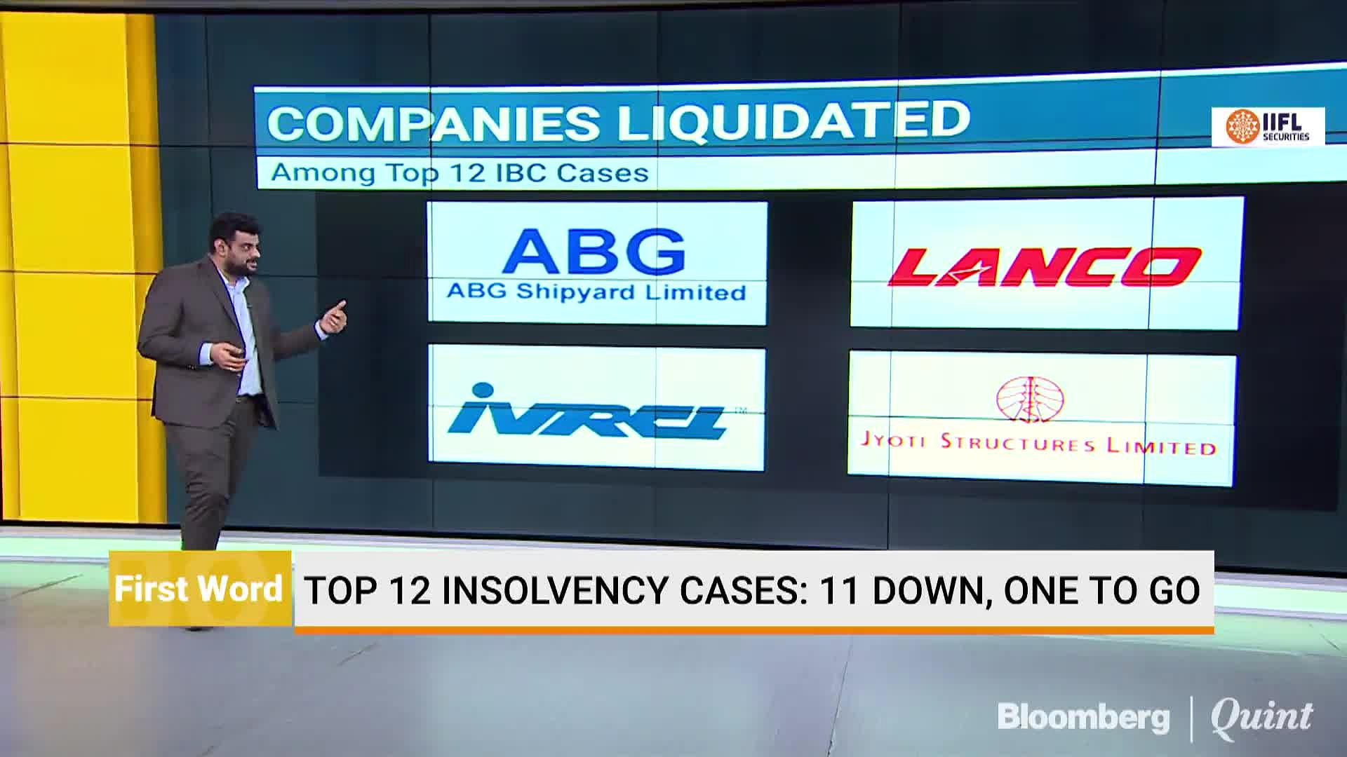 11 Out Of Top 12 Insolvency Cases Close To Resolution