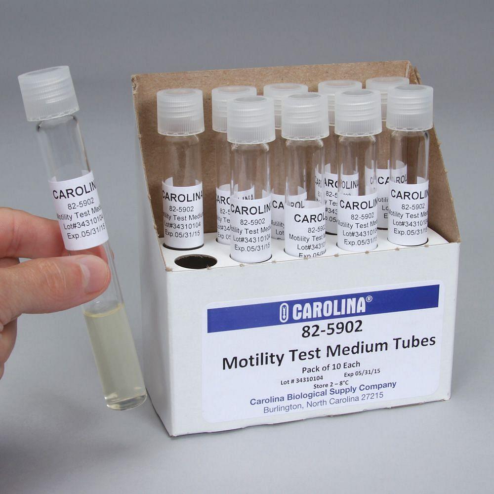Motility Test Medium Tubes