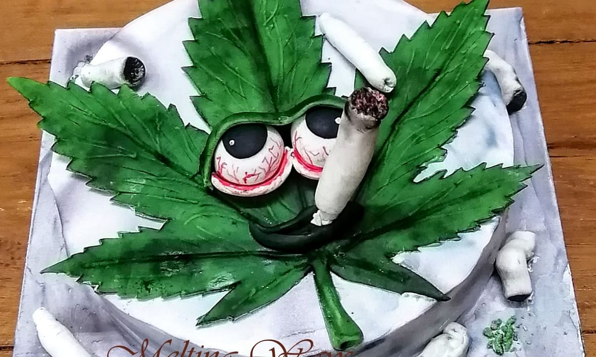 A Birthday Cake for a Smoker