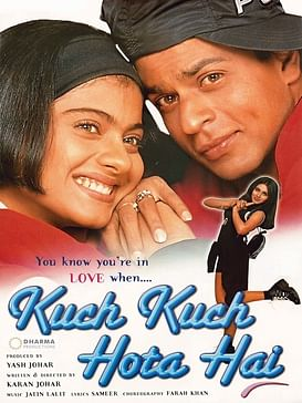 Poster of Bollywood blockbuster of 1998 - 'Kuch Kuch Hota Hai'