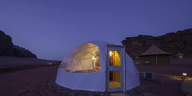 Camping at Wadi Rum, Jordan