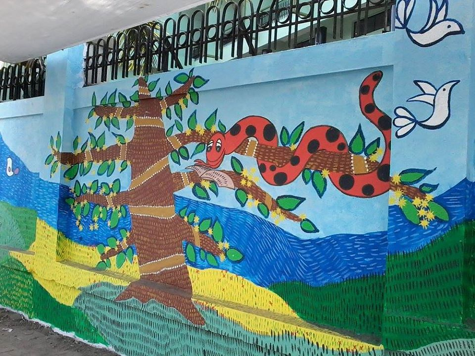 Bal Bharati wall on Senapati Bapat Road, Pune