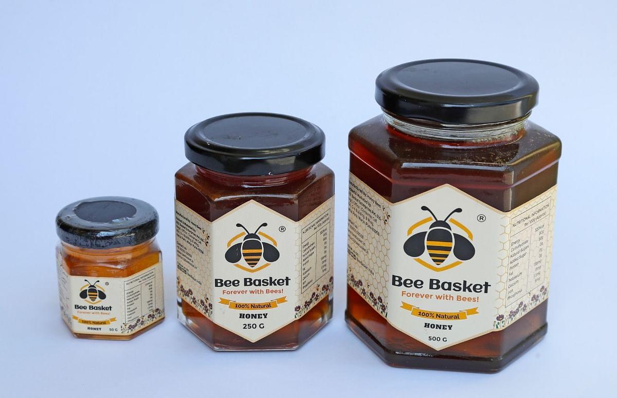 Bee basket honey