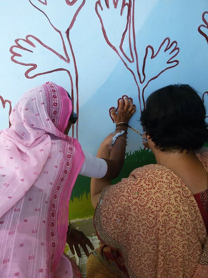 Anandwan - leprosy-affected hand painting
