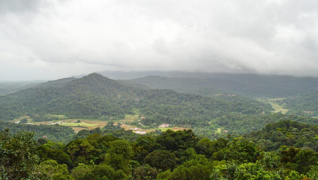 A view of the beautiful valley of Coorg