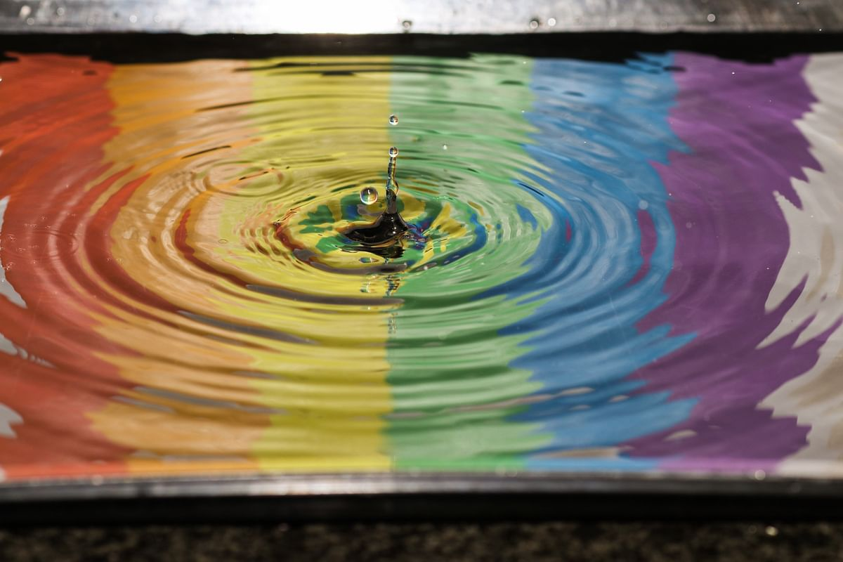 Like a ripple in the myriad colors of the ocean of life