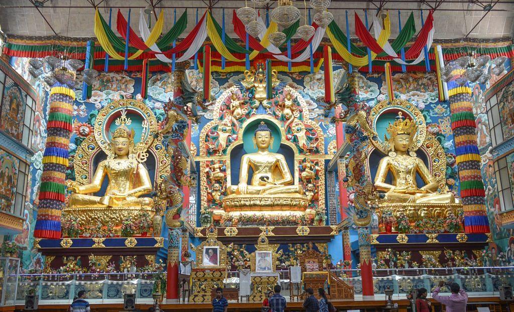 The shrine in the Namdroling Buddhist Monastery