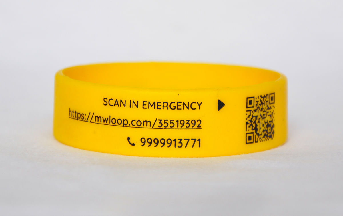 The QR code on the wristband