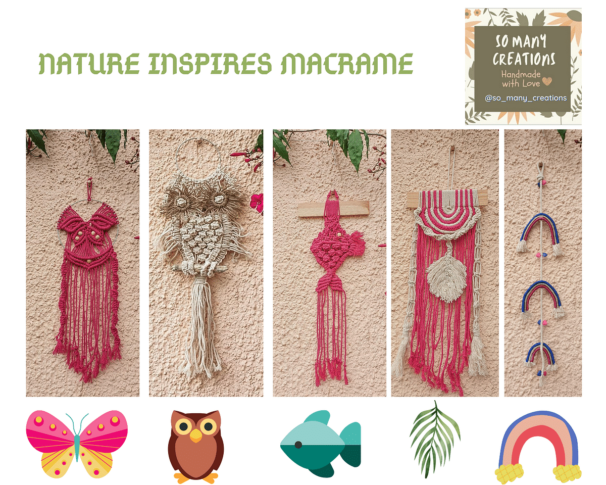 Macramé work inspired by nature
