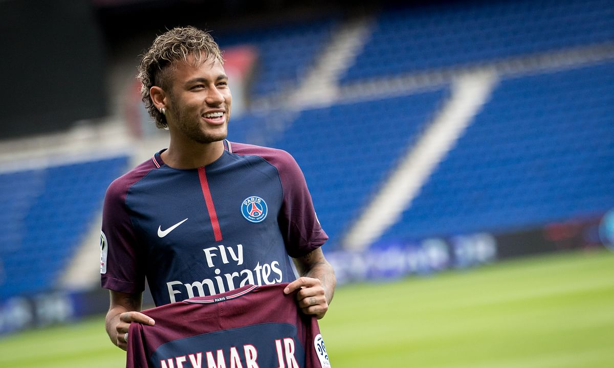 Neymar, at his PSG presentation, 2017