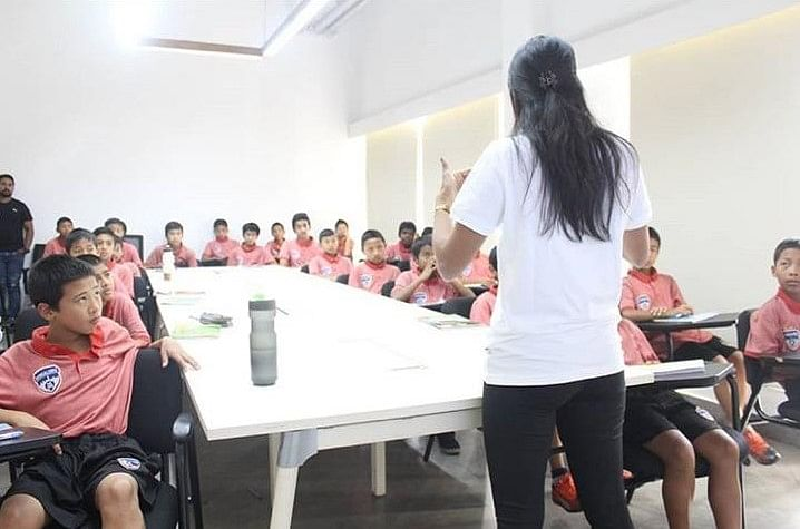 Sessions conducted for the BFC soccer school