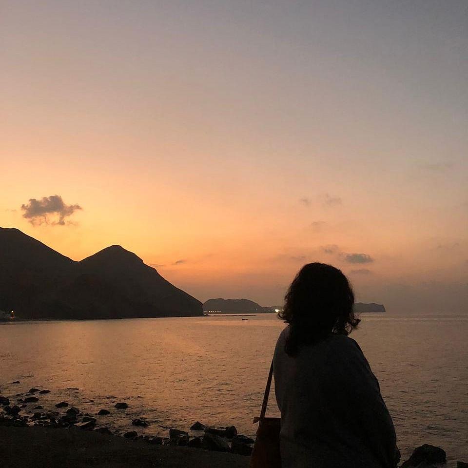 Darsait Beach at sunset