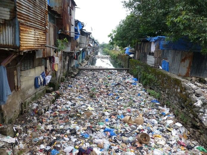 Plastic and thermocol waste clogs drains in metros