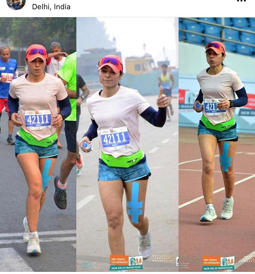 A full marathoner for a marathon in Delhi