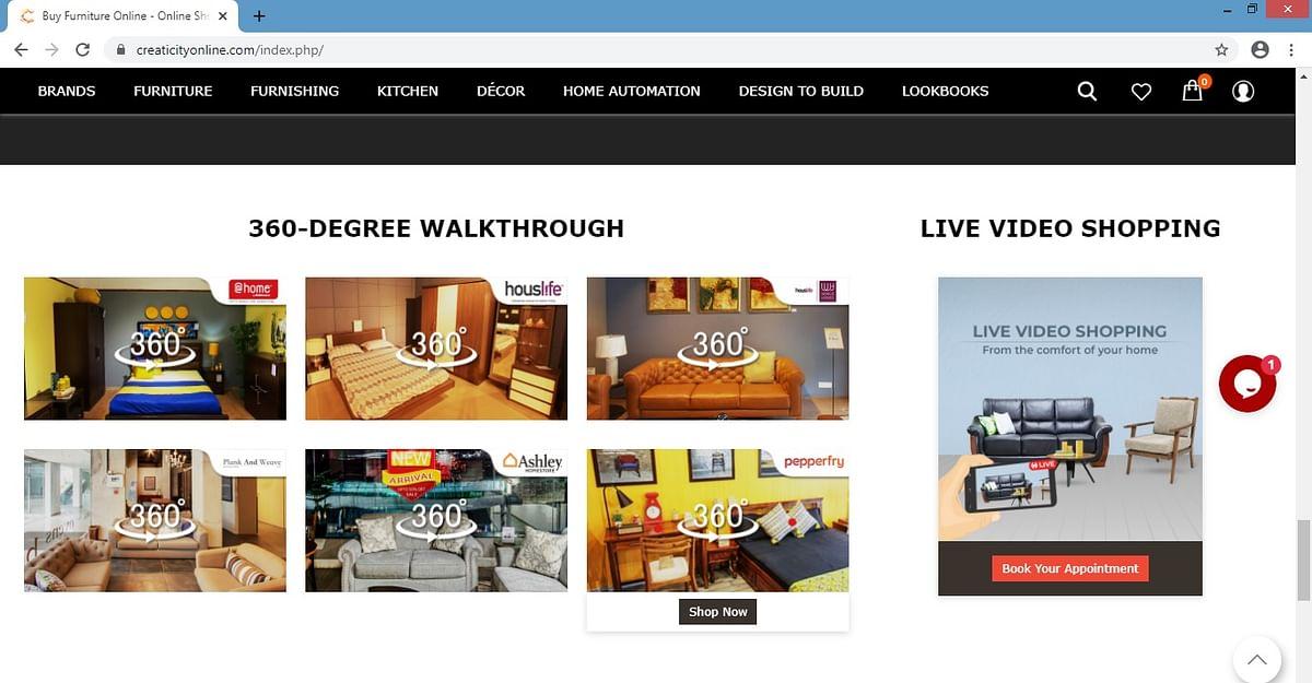 e-commerce website of Creaticity