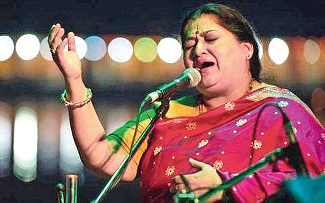 Shubha Mudgal in performance