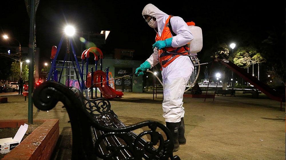 Chile protesters move off streets amid <b>coronavirus</b> outbreak