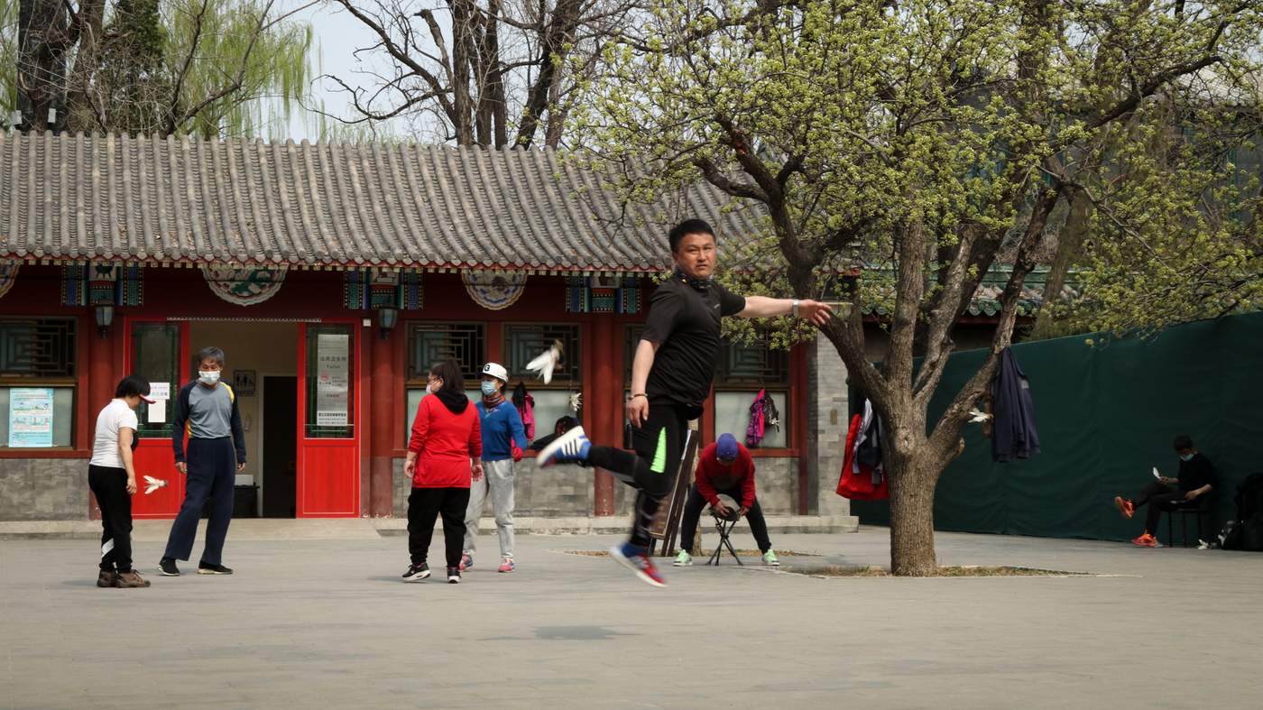 PHOTOS: Coronavirus Kept People Out Of Beijing's Parks. Now They're Coming Back
