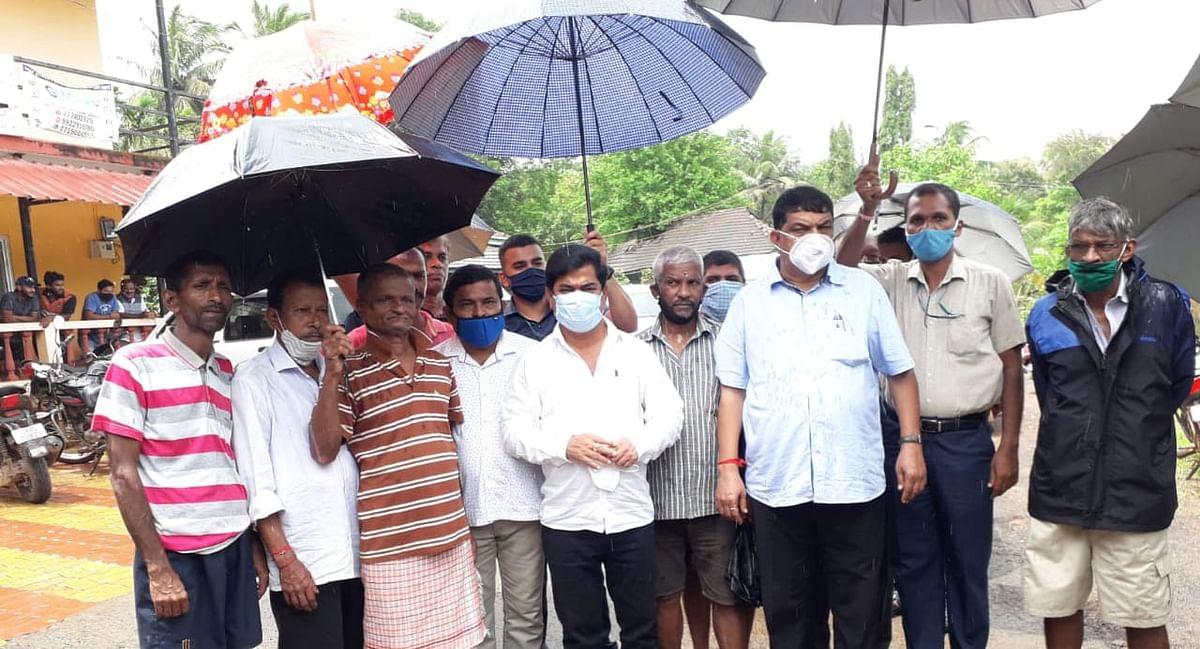 Goa: Girish Chodankar while inspectin Valpai