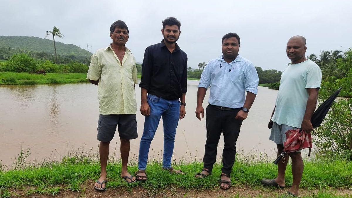 At Davankon-Dharbandora water stuck in village. (Goa)